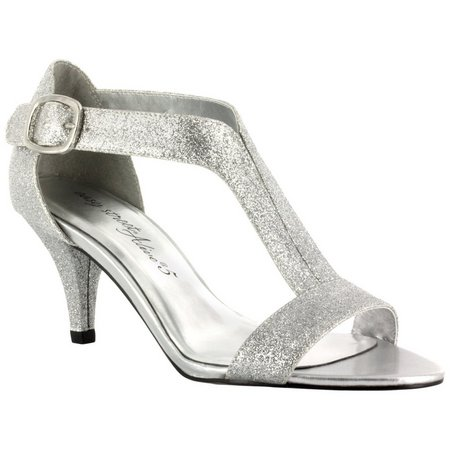 Easy Street Womens Glitz Glitter Dress Sandals
