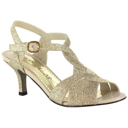 Easy Street Womens Alive At Five Sparkle Sandals