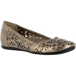 Easy Street Womens Charlize Metallic Loafers