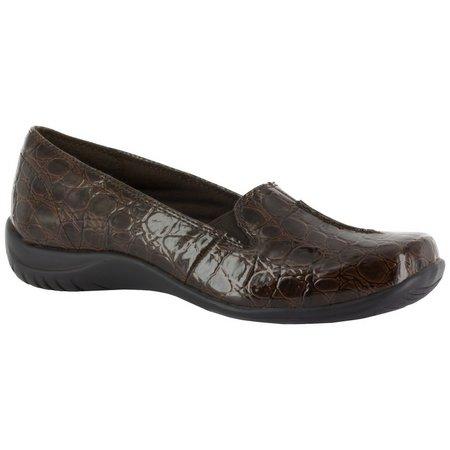 Easy Street Womens Purpose Croco Slip-On Shoes