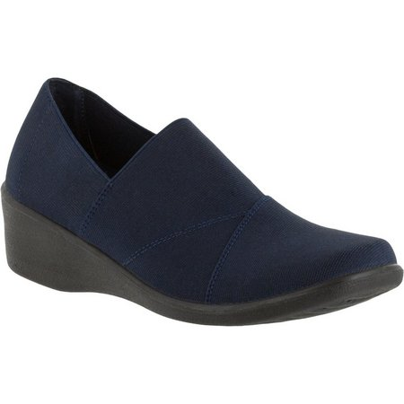 Easy Street Womens Trance Comfort Stretch Wedge