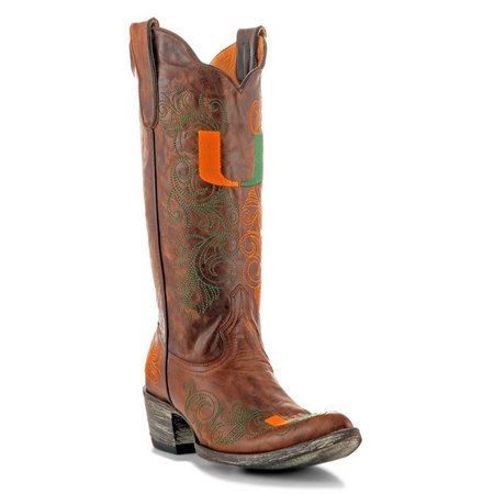Gameday Miami Hurricanes Womens Cowboy Boots