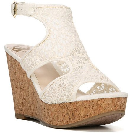 Fergalicious Womens Kendra Crocheted Wedge Sandals
