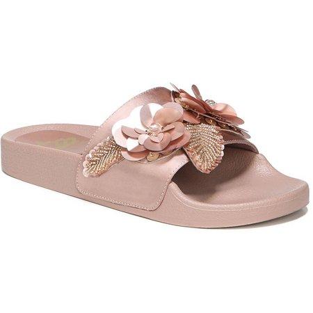 Fergalicious Womens Flame Floral Slide Sandals
