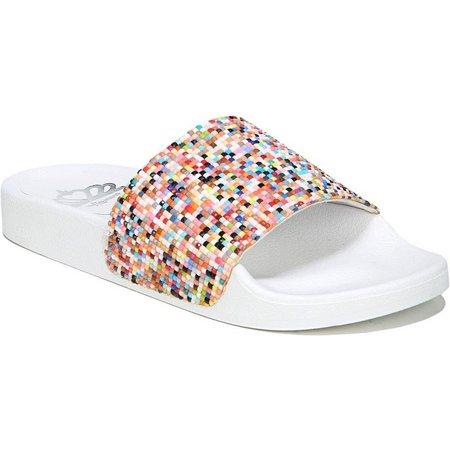 Fergalicious Womens Kandace Slide Sandals