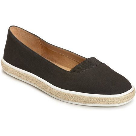 A2 by Aerosoles Womens Funny Bone Black Loafers