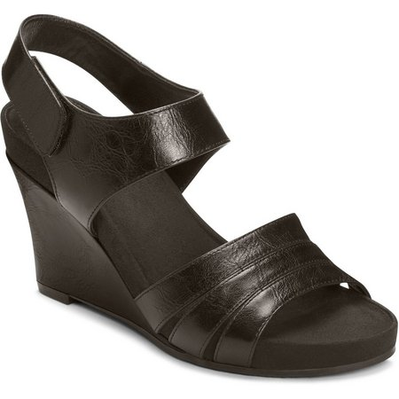 A2 by Aerosoles Womens Plush Day Wedge Sandals