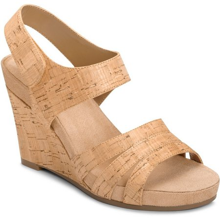 A2 by Aerosoles Womens Plush Day Cork Wedges