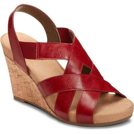 A2 by Aerosoles Womens Swim Plush Wedge Sandals