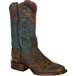 Dan Post Womens Cowboy Certified Blue Bird Boots