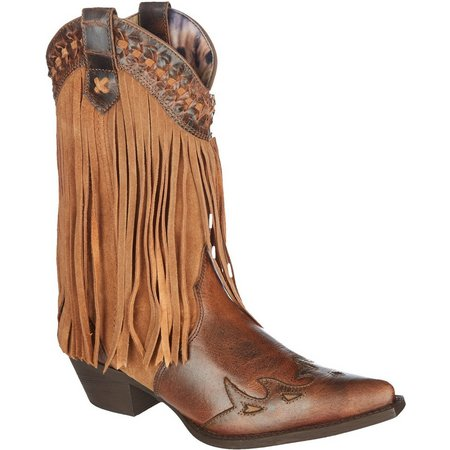Dingo Womens Heart Throb Fringe Cowboy Boots