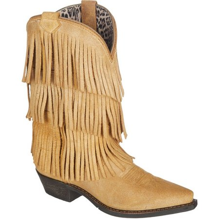 Dingo Womens Tres Fringe Cowboy Boots