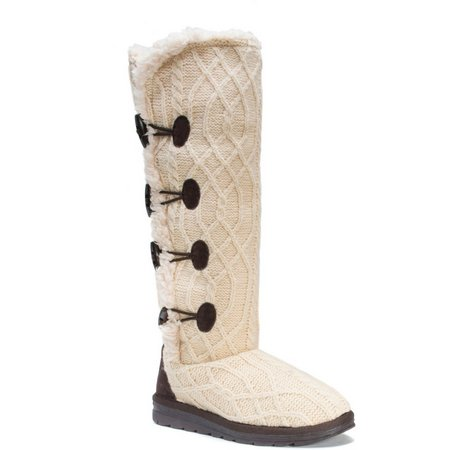 Muk Luks Womens Cable Pattern Felicity Boots