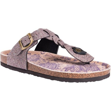 Muk Luks Womens Marsha Thong Sandals