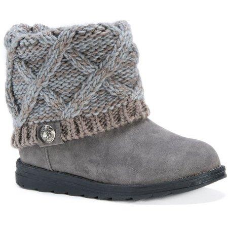 Muk Luks Womens Cable Knit Patti Boots
