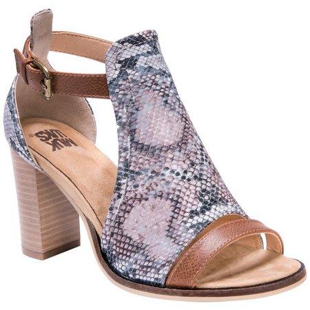 Muk Luks Womens Darcey Heel Sandals