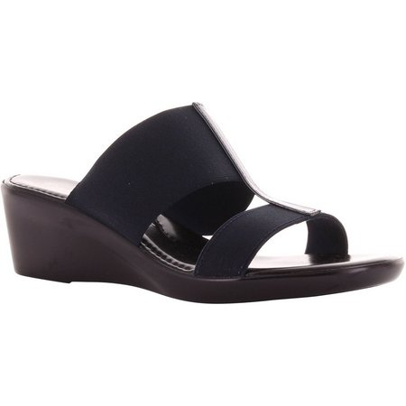 Italian Shoemakers Womens Dual Strap Wedges