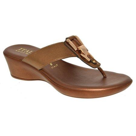 Italian Shoemakers Womens Gema Wedge Sandals