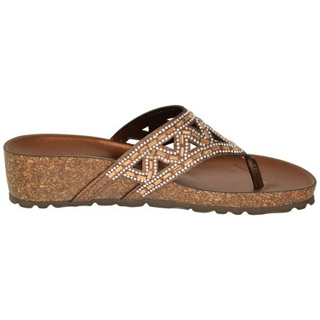 Italian Shoemakers Womens Emilie Thong Sandals