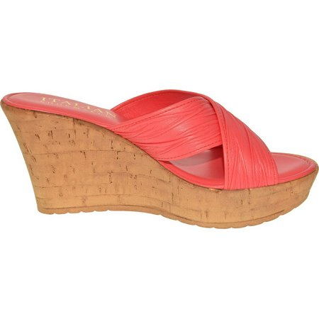 Italian Shoemakers Womens Bright Wedge Sandals