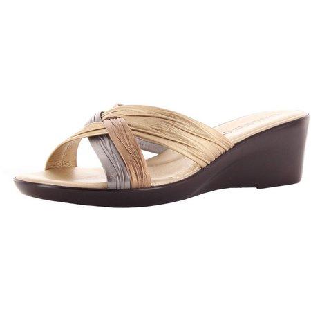 Italian Shoemakers Womens Criss Cross Wedges