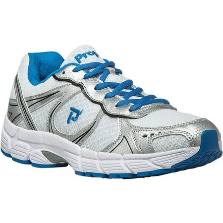Propet USA Mens XV550 White/Blue Athletic Shoes