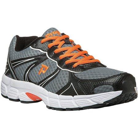 Propet USA Mens XV550 Grey/Orange Athletic Shoes