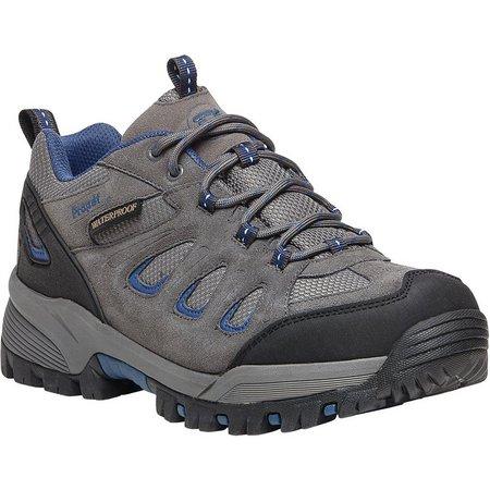 Propet USA Mens RidgeWalker Low Grey Shoes