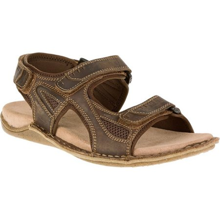 Hush Puppies Mens Rawson Grady Leather Sandals
