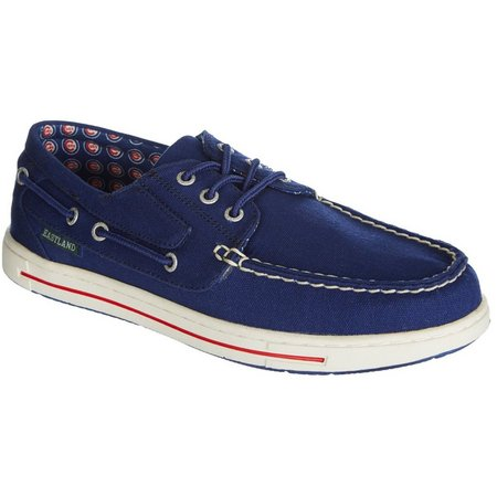 Chicago Cubs Mens Boat Shoes by Eastland