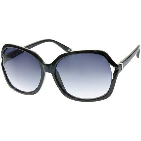 Nine West Womens Square Black Sunglasses