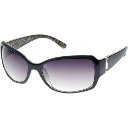 Bay Studio Womens Black Print Sunglasses