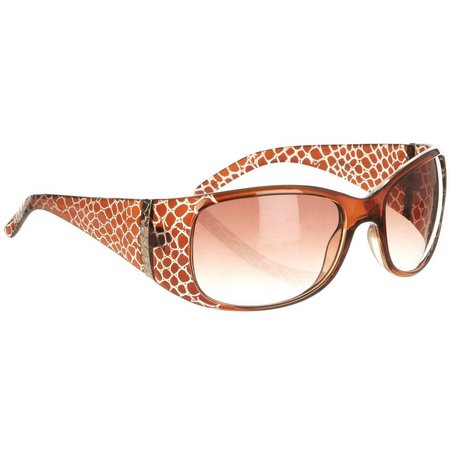 Bay Studio Womens Tan Snake Wrap Sunglasses