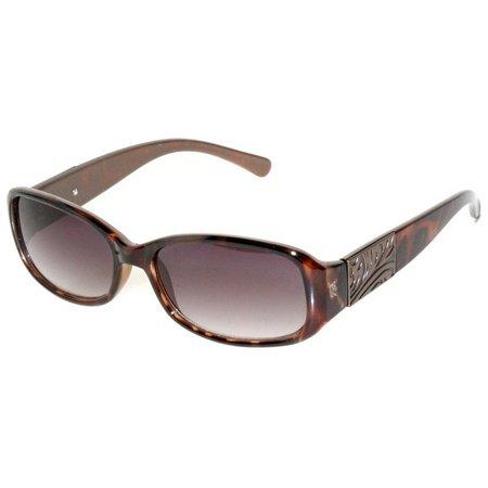 Bay Studio Womens Tortoise Brown Petite Sunglasses