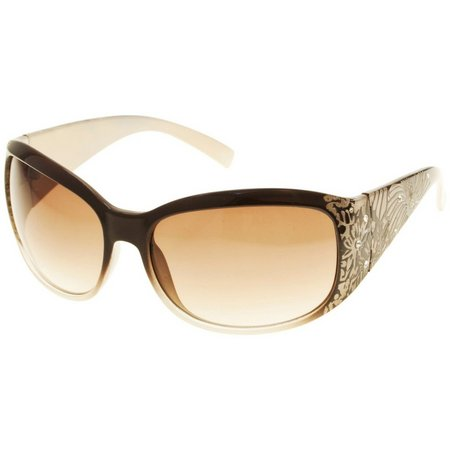 Bay Studio Womens Rectangular Wrap Sunglasses