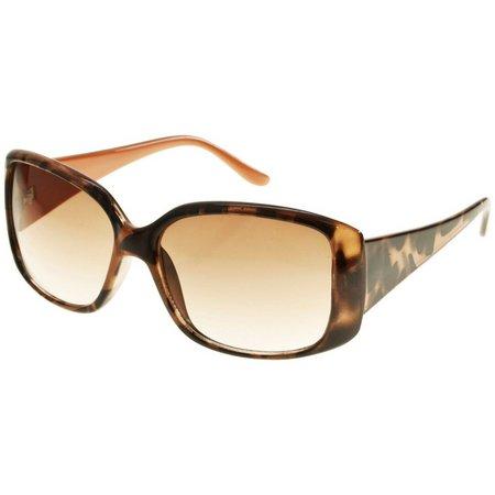 Bay Studio Womens Plastic Rectangular Sunglasses