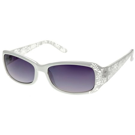 Bay Studio Womens White Etched Sunglasses