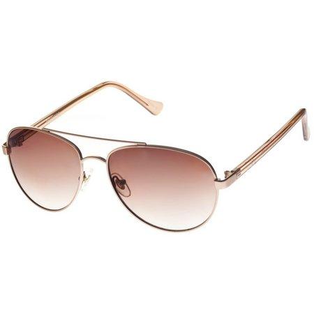 Dockers Womens Aviator Rose Gold Tone Sunglasses