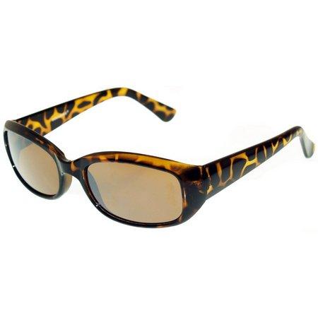Dockers Womens Brown Mod Rectangle Sunglasses