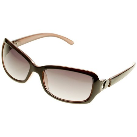 Dockers Womens Medium Brown Rectangle Sunglasses