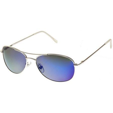 Reel Legends Womens Aviator Silver Sunglasses