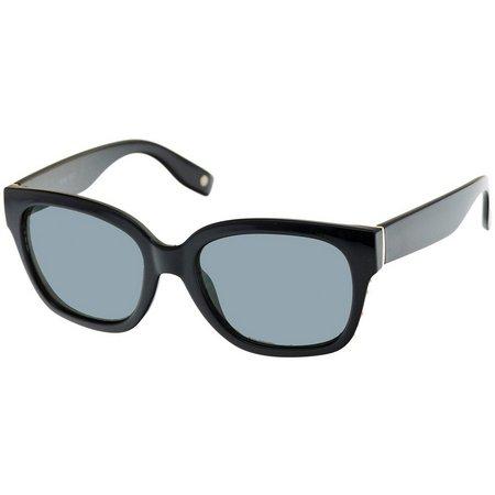 Nine West Womens Gold Tone Black Sunglasses