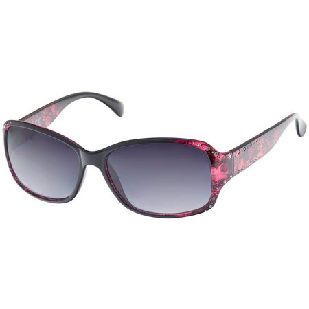 Bay Studio Womens Berry Pink Floral Sunglasses