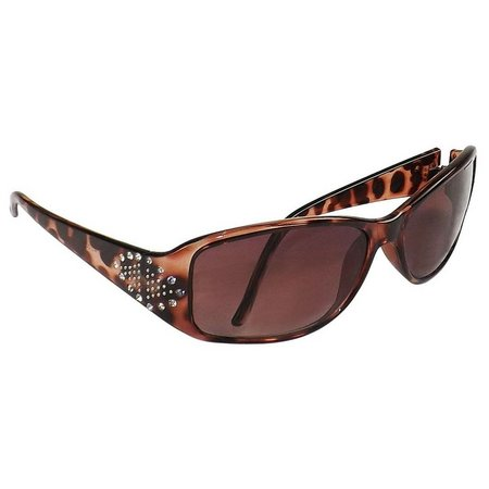 Infini Womens Brown Rhinestone Sun Reading Glasses