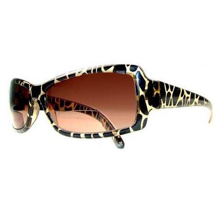 Infini Womens Brown Animal Sun Reading Glasses