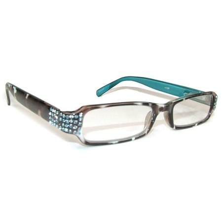 Infini Womens Turquoise Rhinestone Reading Glasses