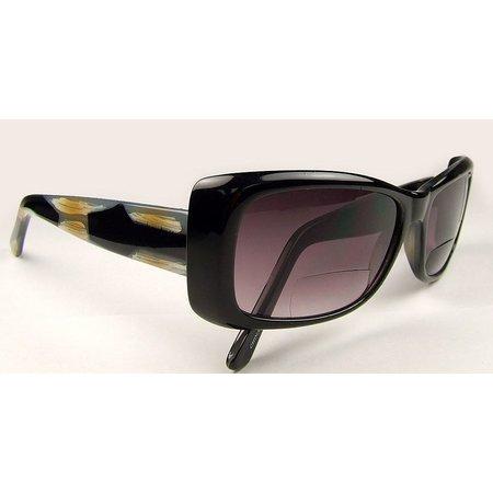 Infini Womens Black Horn Sun Reading Glasses