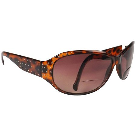 Infini Womens Rocco Brown Stud Sun Reading Glasses