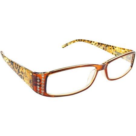 Infini Womens Brown Print Reading Glasses