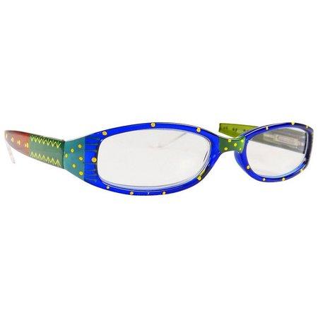Infini Womens Painted Polka Dot Reading Glasses
